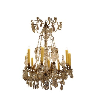 Crystal Chandelier in the Manner of Baguès For Sale