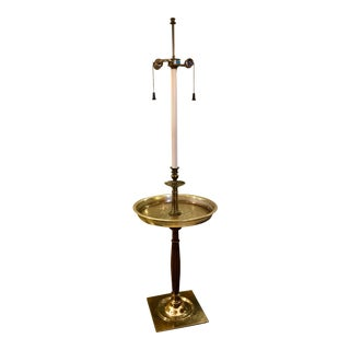 Stiffel Tray Table Brass Floor Lamp