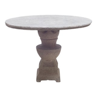 Early 20th C. French Cast Concrete Patio Garden Table C. 1910 For Sale