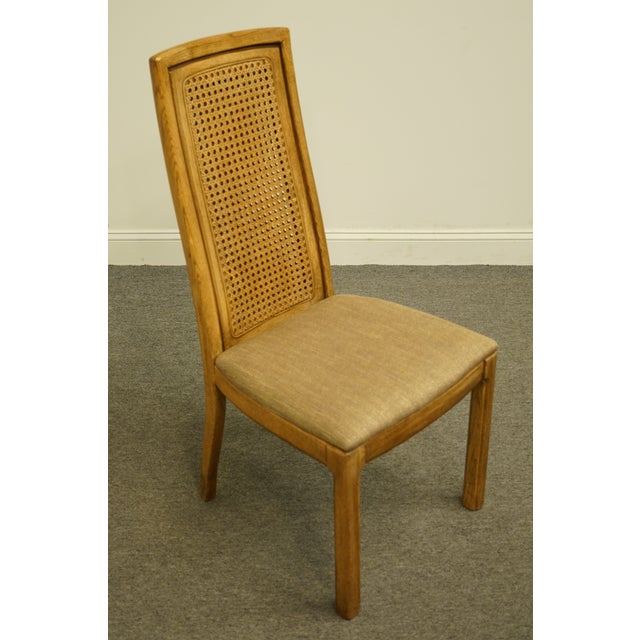 Thomasville Vintage Thomasville Furniture Forecast Collection Contemporary Cane Back Dining Side Chair For Sale - Image 4 of 9