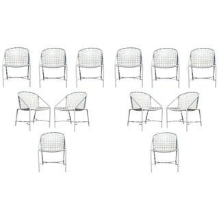 Mid Century Modern Pair of Brown Jordan Kantan Patio Dining Chairs 1960's