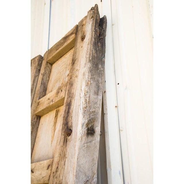 Antique Guadalajaran Exterior Swinging Mesquite Rustic Doors - A Pair For Sale - Image 9 of 11