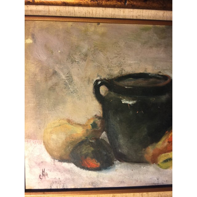 Vintage Still Life Oil on Board Painting Signed by Artist For Sale - Image 4 of 11