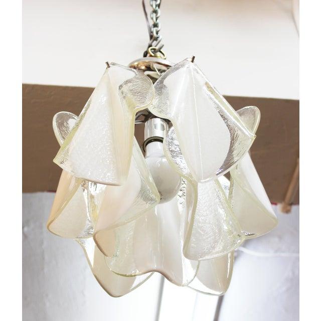 Italian Modern Murano Glass Handkerchief Pendant For Sale In New York - Image 6 of 8