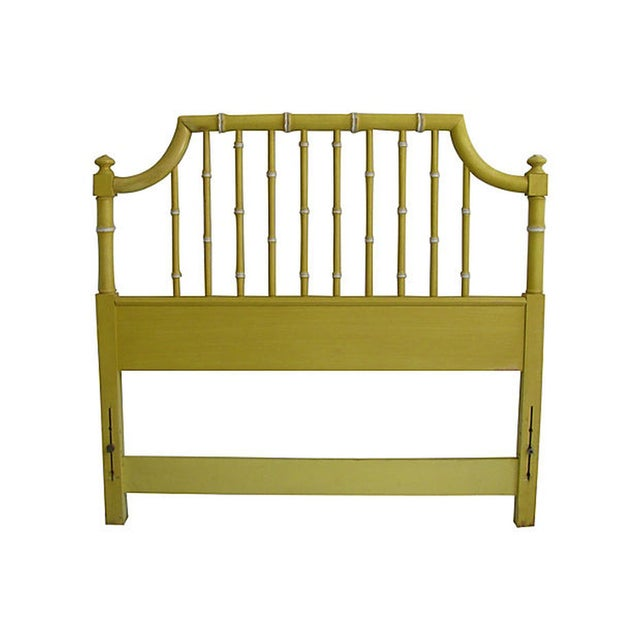 Thomasville Yellow Faux Bamboo Twin Headboard - Image 1 of 2