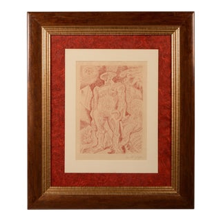 Le Septieme Chant 1 Signed Engraving by Andre Masson For Sale