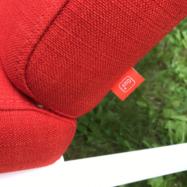 Gus Modern Halifax Chair Upholstered in Red For Sale - Image 9 of 11