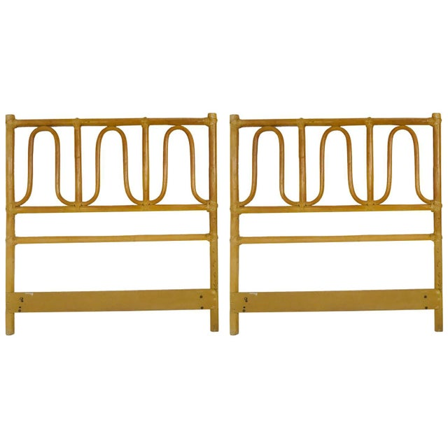 Brass McGuire Twin Headboards Pair For Sale - Image 8 of 8