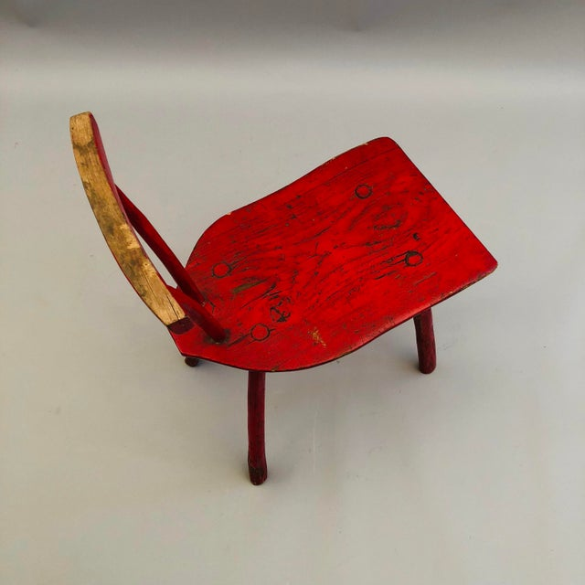 Hand Hewn Oak Side Chair For Sale In New York - Image 6 of 8