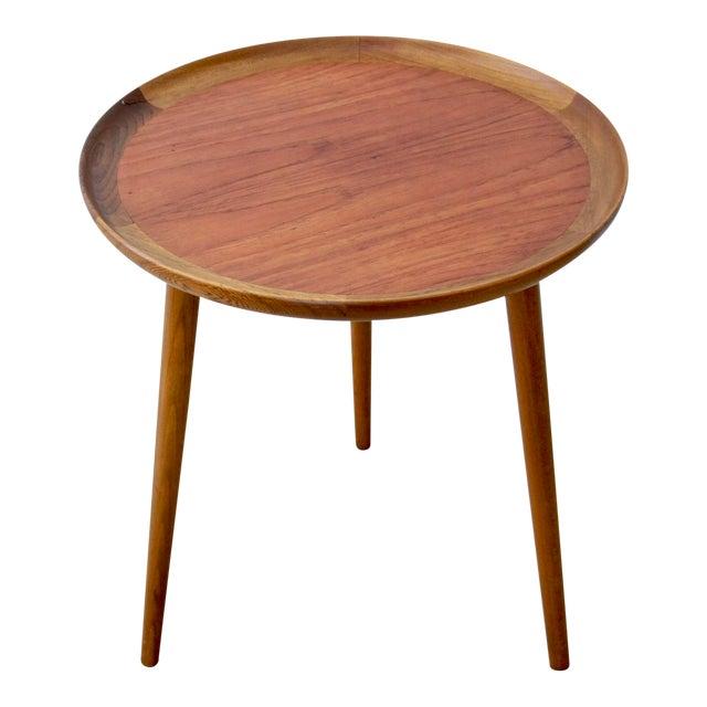 Danish Modern Teak & Walnut Tray Table For Sale