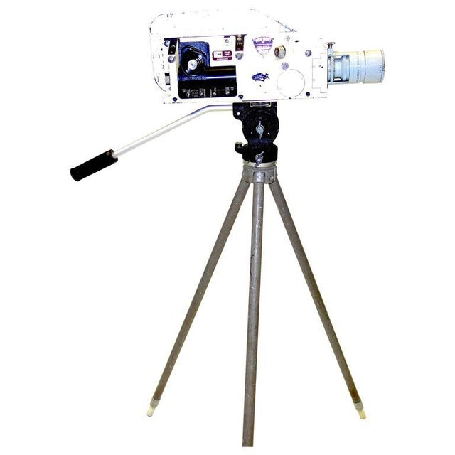 Industrial Military Analysis Cinema Camera. Circa Mid 20th Century. Display As Sculpture. On Vintage Tripod. For Sale - Image 3 of 7