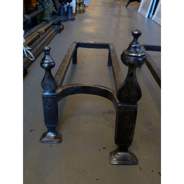 18th Century Double Andirons For Sale - Image 4 of 7