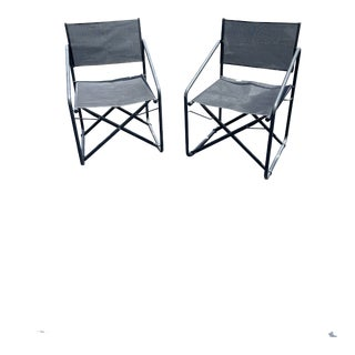 1950s Brown Jordan Nomad Folding Chairs - a Pair For Sale