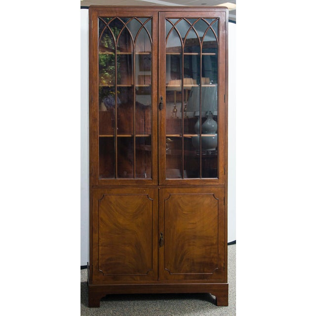 English Mahogany Display Cabinet For Sale - Image 10 of 10