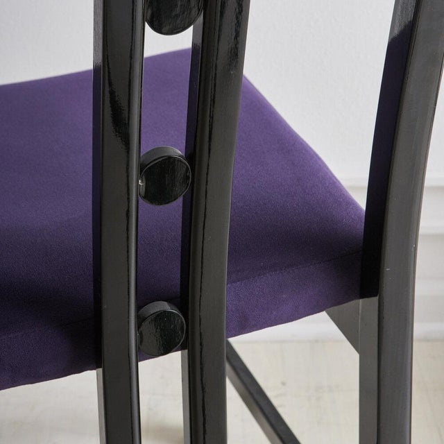 Modern A Set of 6 Post Modern Dining Chairs by Aldo Rossi, 1980s For Sale - Image 3 of 7