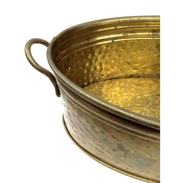 Solid Brass Nijhof Planter Made in Holland - Image 7 of 9