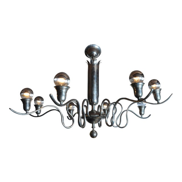 Early 20th Century Hungarian Art Deco Chandelier For Sale