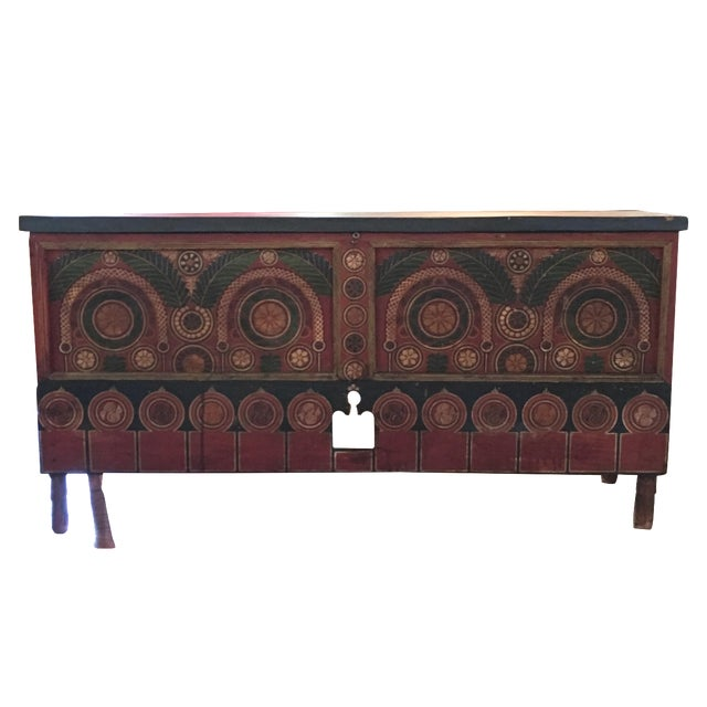 Imported Moroccan Trunk - Image 1 of 6