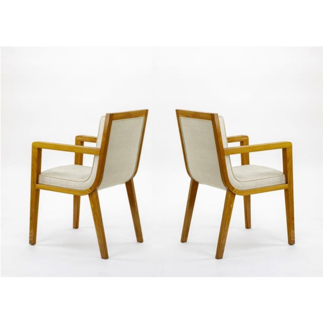 Maxime Old Maxime Old Pair of Refined Oak Arm Chairs(attributed) For Sale - Image 4 of 5