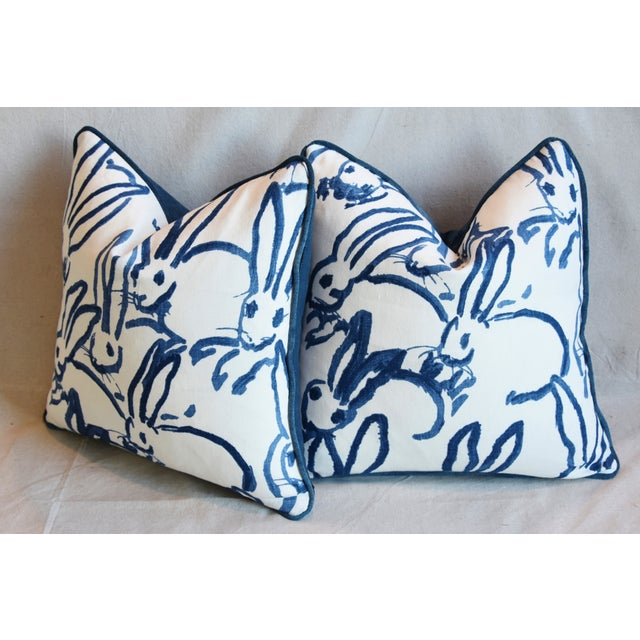 "Designer Groundworks Bunny Hutch Feather/Down Pillows 17"" Square - Pair For Sale - Image 9 of 13"