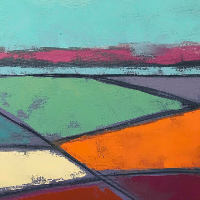"""2010s Carrie Megan """"Looking Down #7"""" Contemporary Abstract Oil Painting For Sale - Image 5 of 6"""