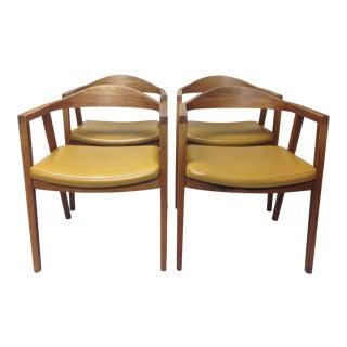 Mid-Century Gunlocke Chair Company Danish Design Office Chairs- Set of 4 For Sale