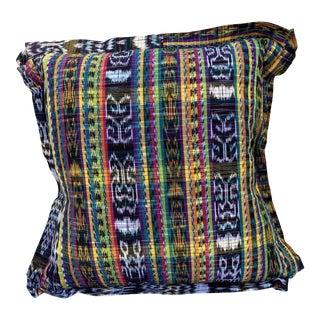 Contemporary Guatemalan Multicolored Pillow For Sale