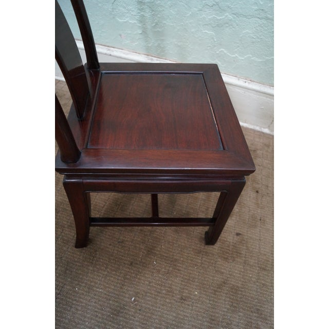 Chinese Rosewood Dining Chairs - Set of 4 - Image 10 of 10