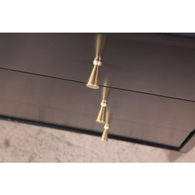 Paul McCobb Planner Group Black Lacquered Three-Drawer Bachelor Chest, Newly Restored For Sale In South Bend - Image 6 of 13