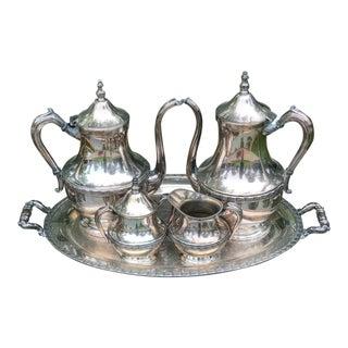 Silverplated Tea Set - 5 Piece Set For Sale