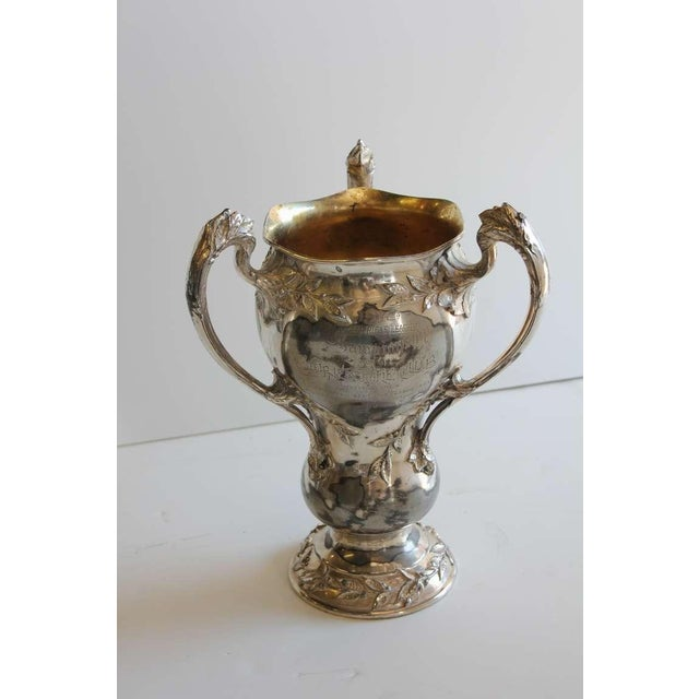 1910's ornate Indoor Rifle League Loving cup.
