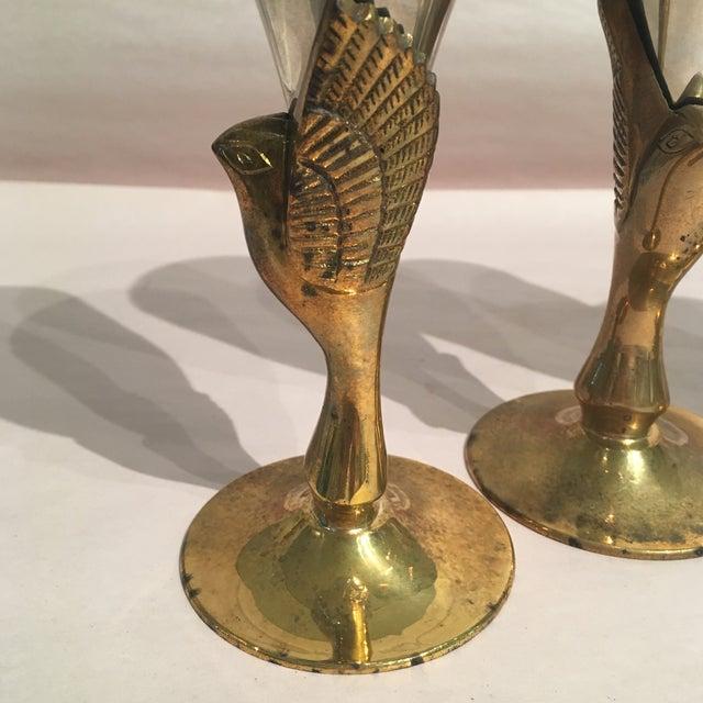 Godinger Silver Plated & Brass Bird Goblets - Set of 4 - Image 10 of 11
