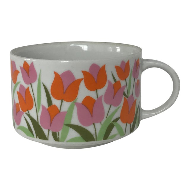 Ceramic Tulip Pattern Coffee / Tea Cup - Image 1 of 5