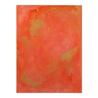 AN4 Coral and Salmon Abstract Resin Painting 6973 For Sale