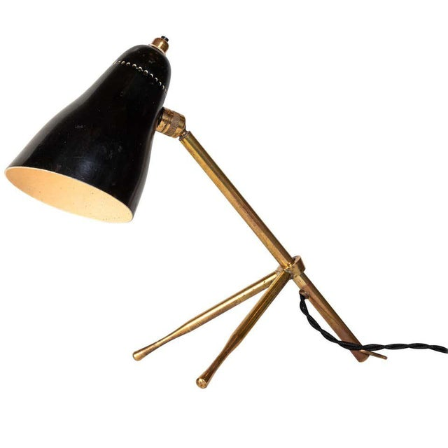 "1950s Giuseppe Ostuni ""Ochetta"" Wall or Table Lamp for O-Luce For Sale - Image 13 of 13"
