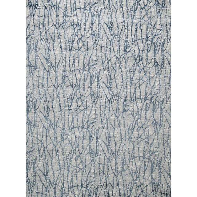 """Textile Stark Studio Rugs Jeeves Rug in Blue, 2'7"""" x 7'7"""" For Sale - Image 7 of 7"""