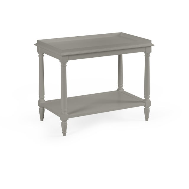 Transitional Casa Cosima Revere Side Table, Chelsea Gray For Sale - Image 3 of 3