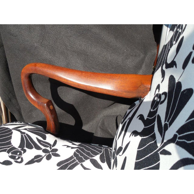 Hickory 1970's Queen Anne Otomi Armchair - Image 5 of 10