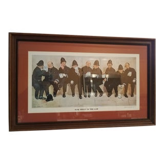 """Vintage """" Nine Pints of the Law"""" Police Federation of London Framed Signed Dated Print For Sale"""