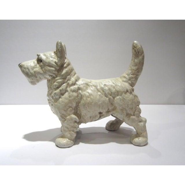 Brown Cast Iron West Highland Terrier Doorstop For Sale - Image 8 of 9