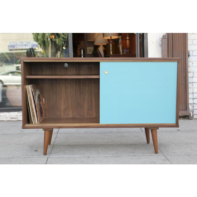 Mid-Century Style Two Door Credenza For Sale In Los Angeles - Image 6 of 10