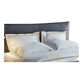 Monte Carlo Banded Pillowcases King - Limestone For Sale