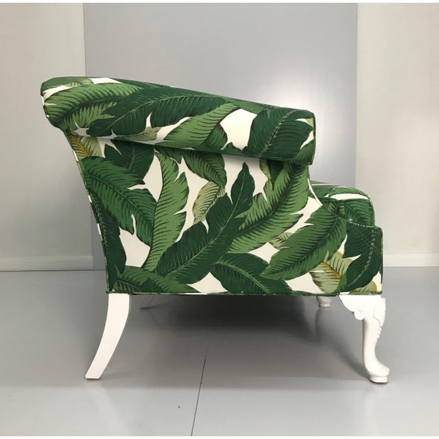 French 1940s Tropical Leaf Sofa For Sale - Image 3 of 7
