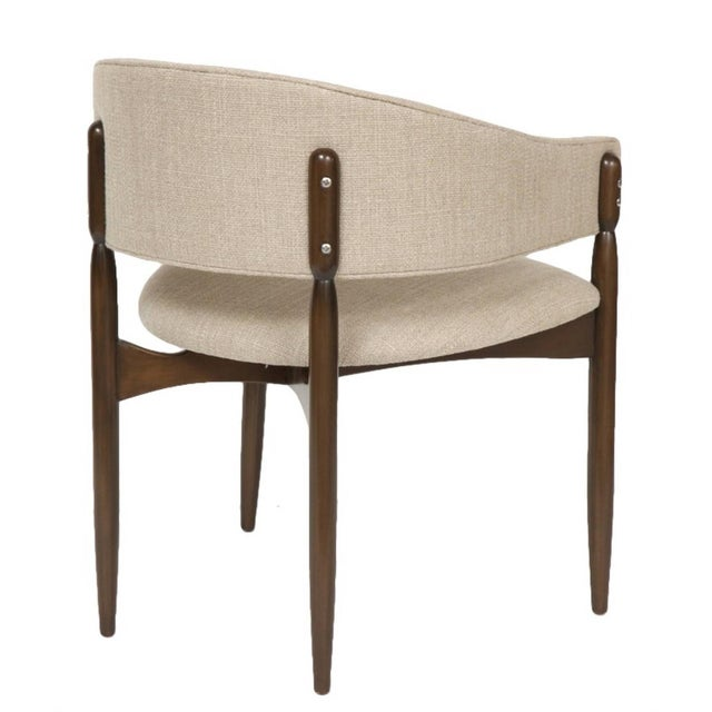 Mid-Century Modern Set of 4 Enroth Dining Chairs For Sale - Image 3 of 5