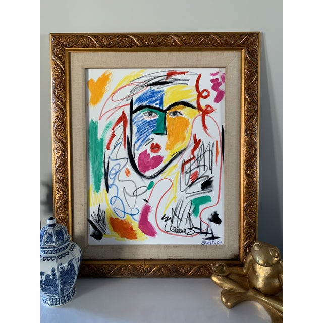 """Abstract """"He is a Queen"""" Abstract Face Painting For Sale - Image 3 of 5"""