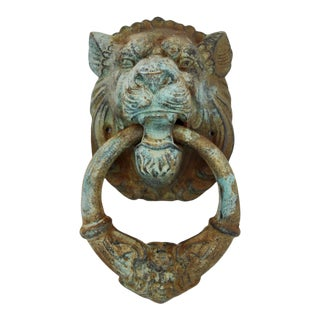Monumental Lion's Head Door Knocker or Decor Object For Sale