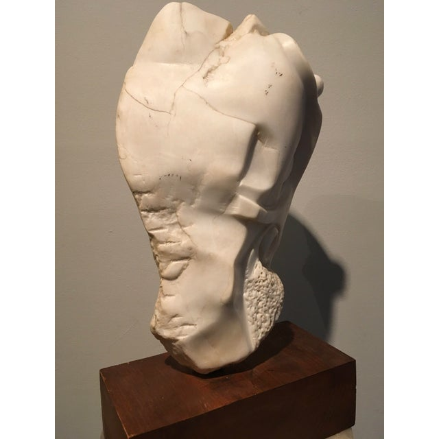 1940s American Sculpture Hand-Carved Stone : Moses, Ca. 1940 For Sale - Image 5 of 6