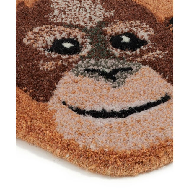 Shabby Chic Doing Goods Oddly Orangutan Rug Small For Sale - Image 3 of 6