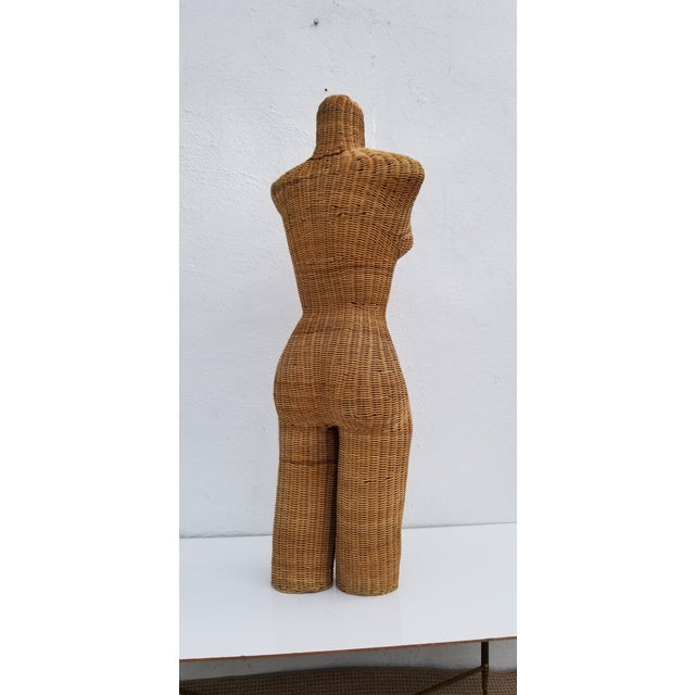 1970s Figurative Wicker Female Mannequin Torso For Sale In Miami - Image 6 of 13