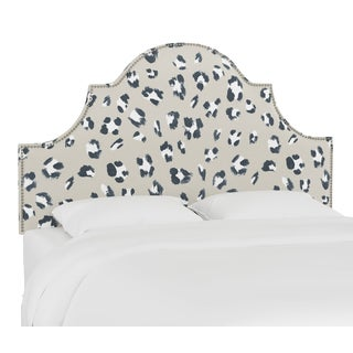 Queen Headboard, Brush Cheetah Ivory For Sale